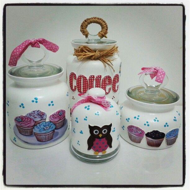 Cupcake Jars Cupcake Kitchen Decor Pinterest