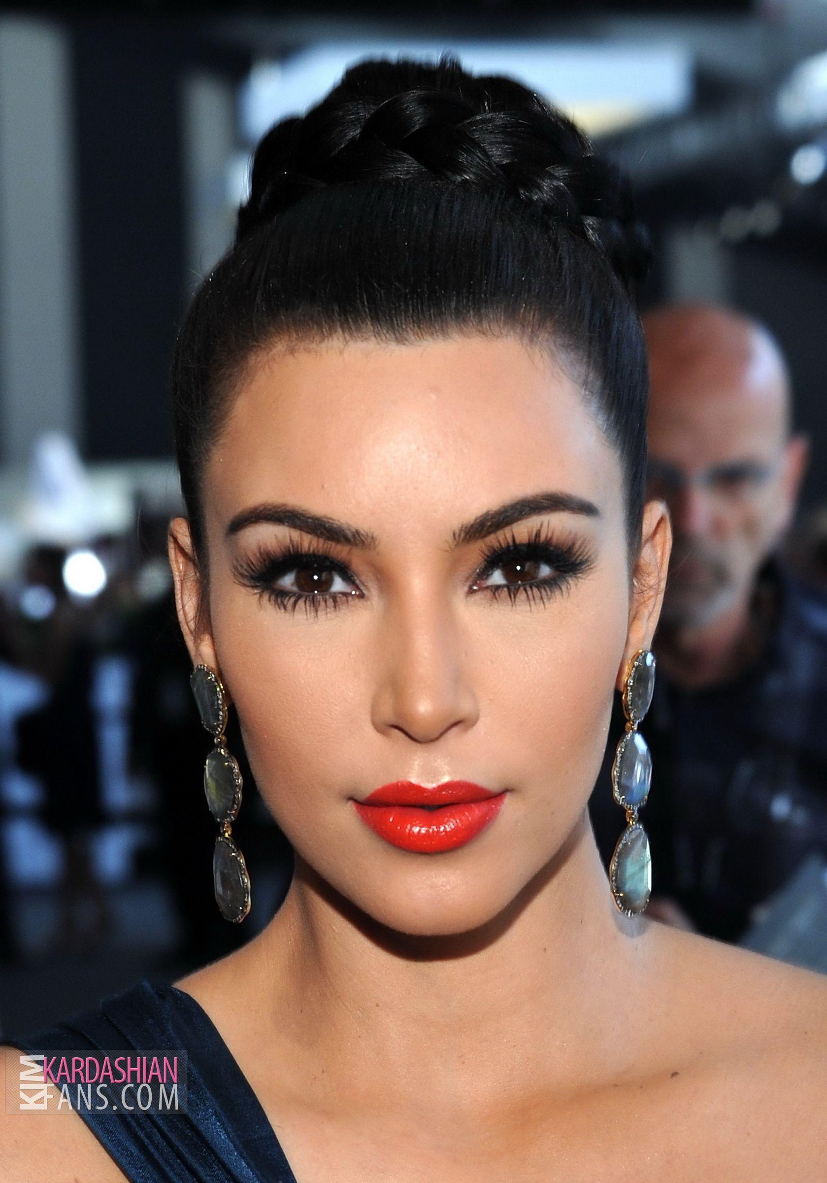 Red Lips Makeup Kim Kardashian Looks