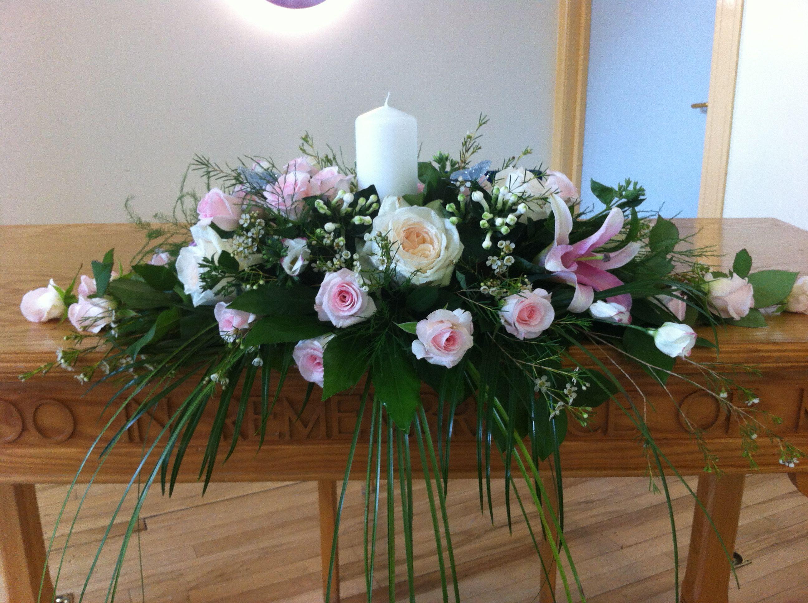 Altar decoration then top table weddingflowersbelfast for Altar decoration