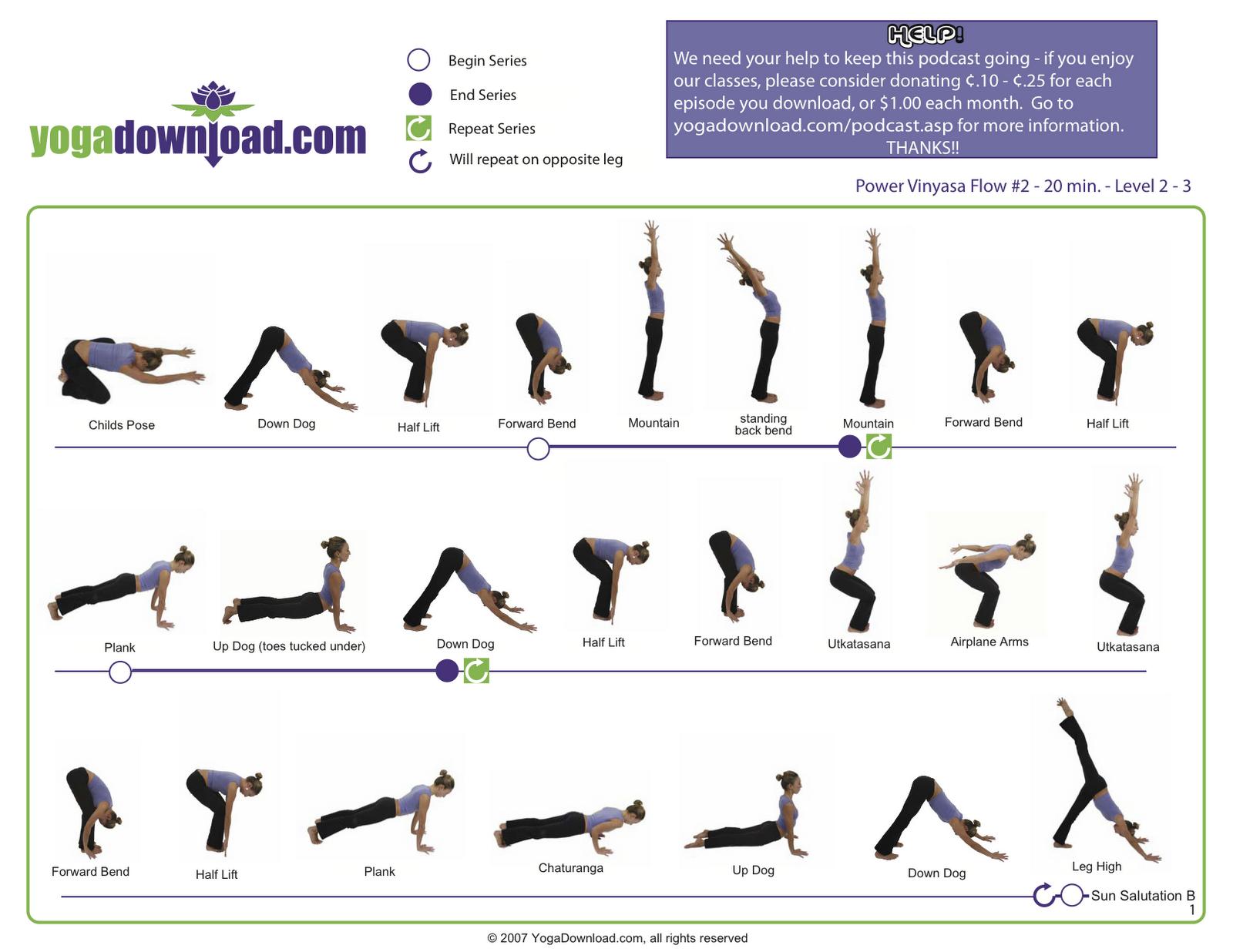 graphic regarding Printable Chair Yoga Poses Pdf known as Vinyasa Yoga Poses For Newcomers