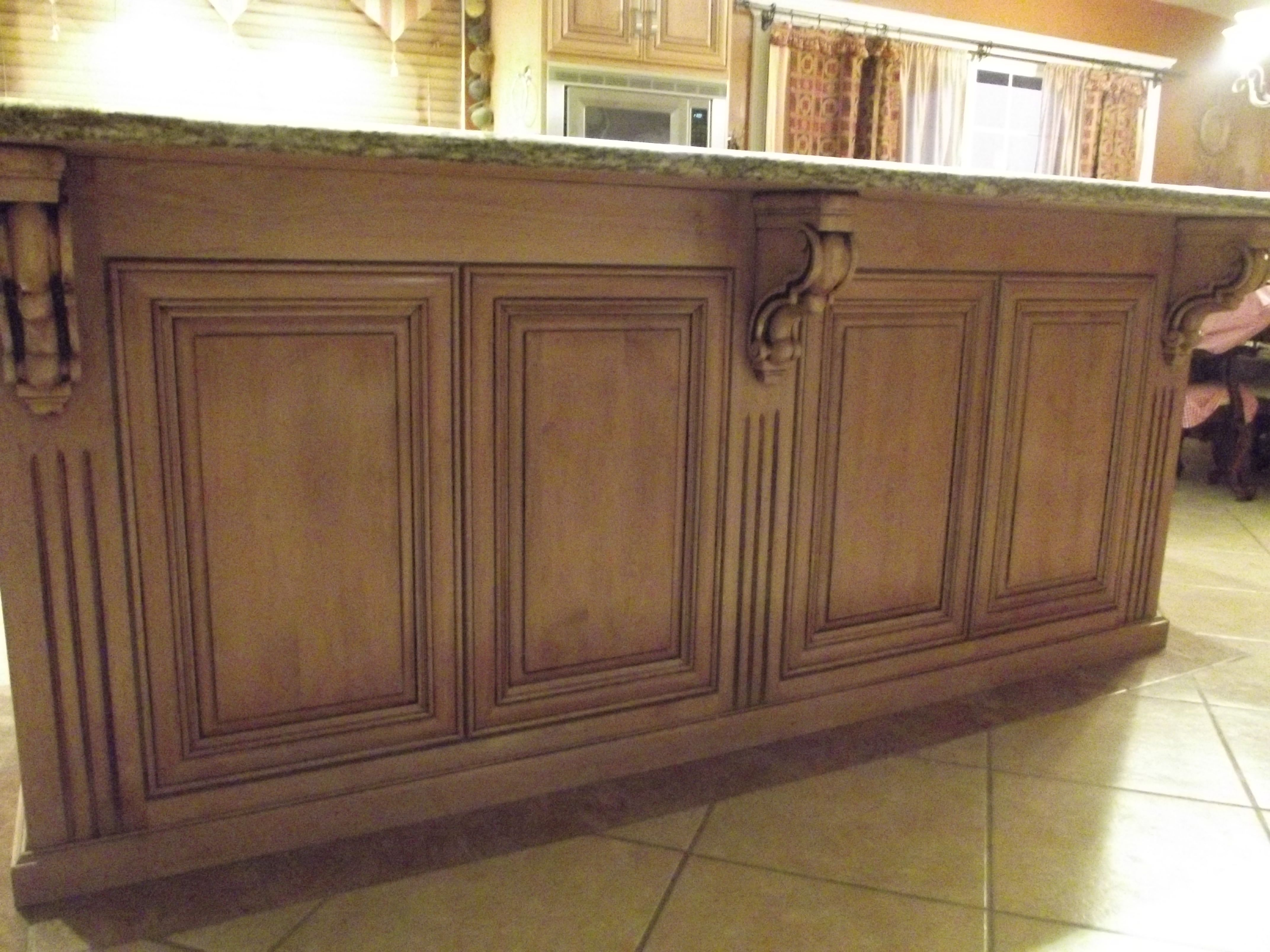 Glaze finish on kitchen cabinets antique paint design on for Finished kitchen cabinets