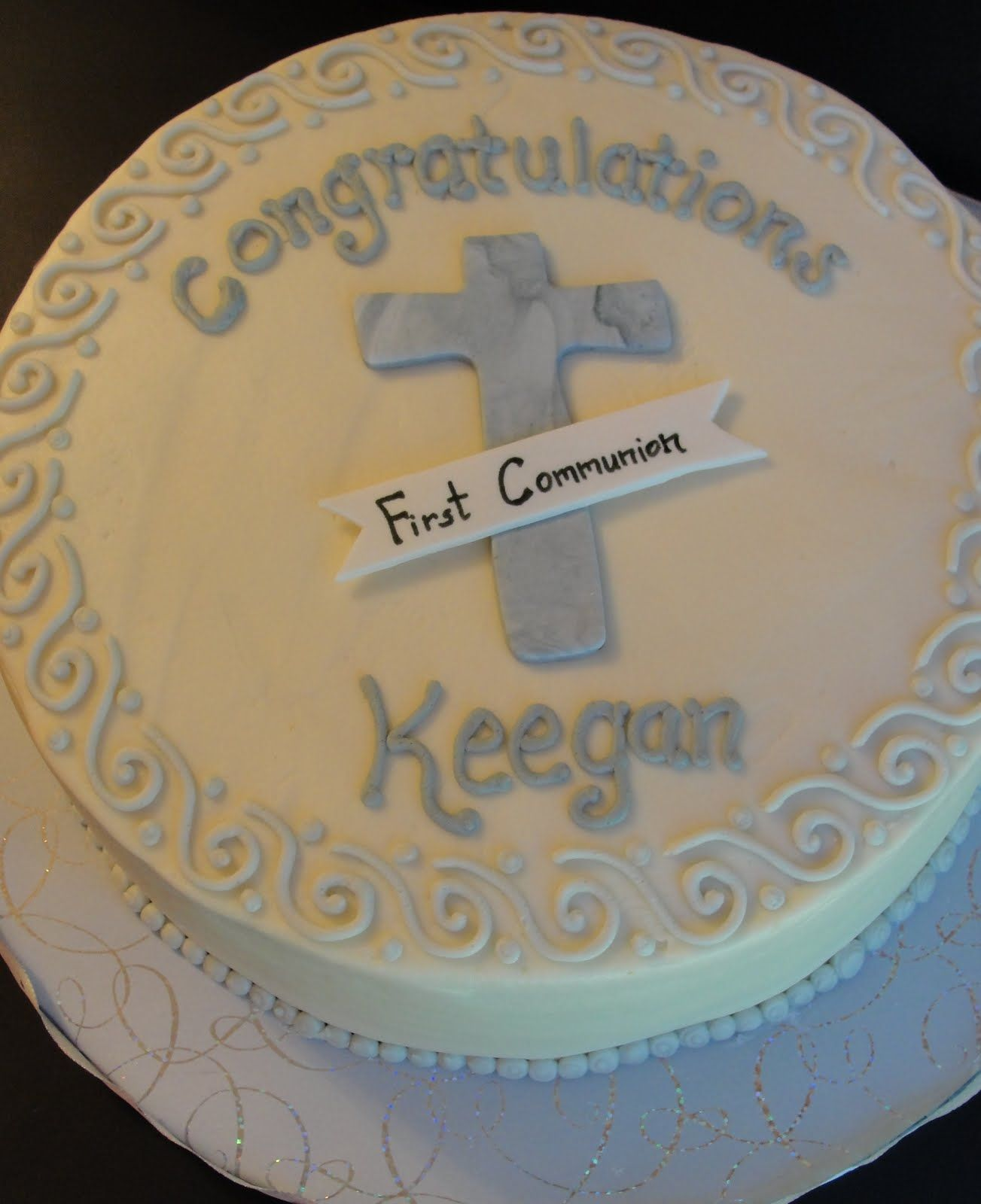 Pin communion party ideas first holy decorations cake on pinterest - Holy communion cake decorations ...
