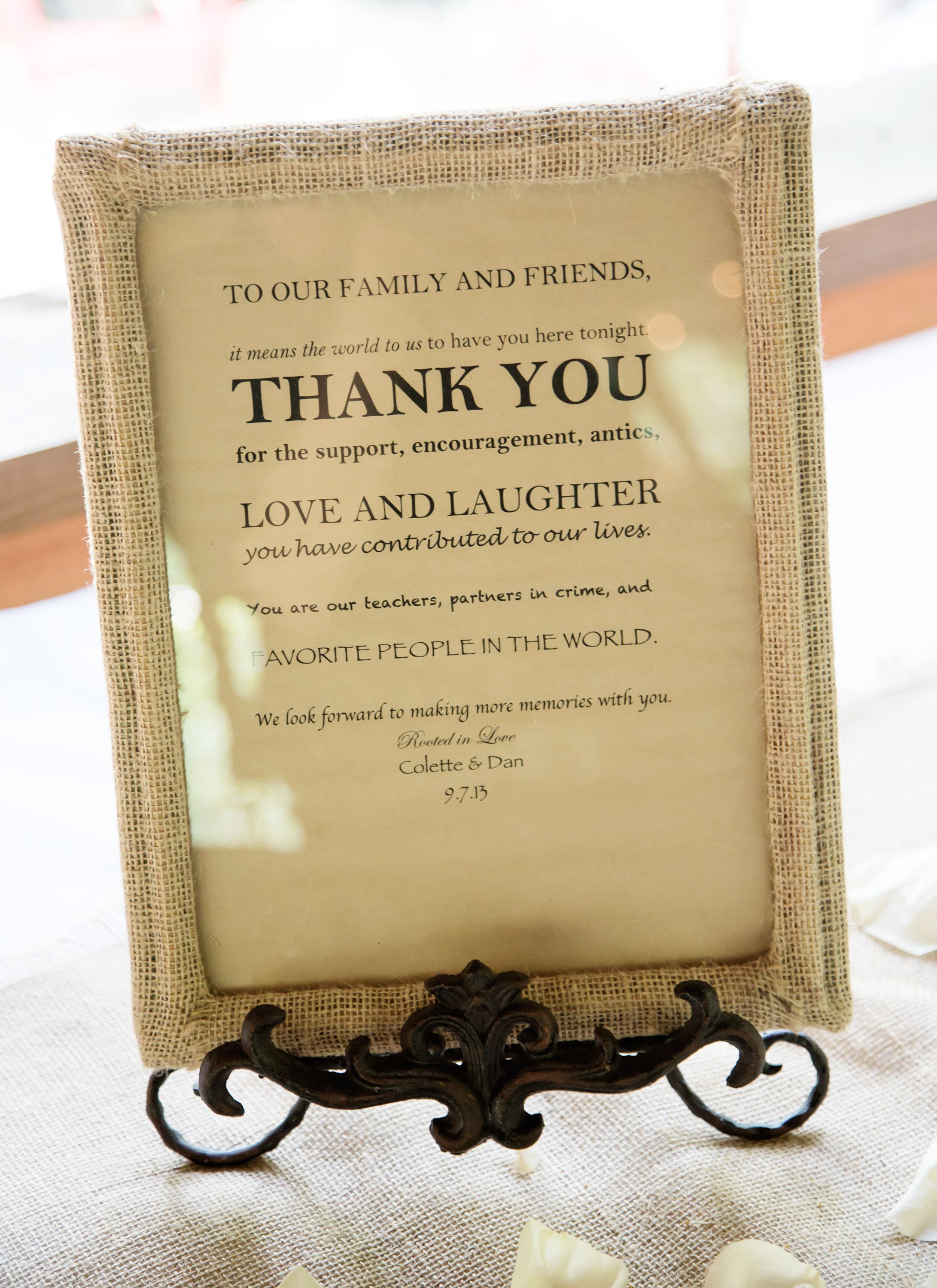 Wedding Gift Table Thank You Poem : Thank you sign for gift table #wedding Wedding Pinterest