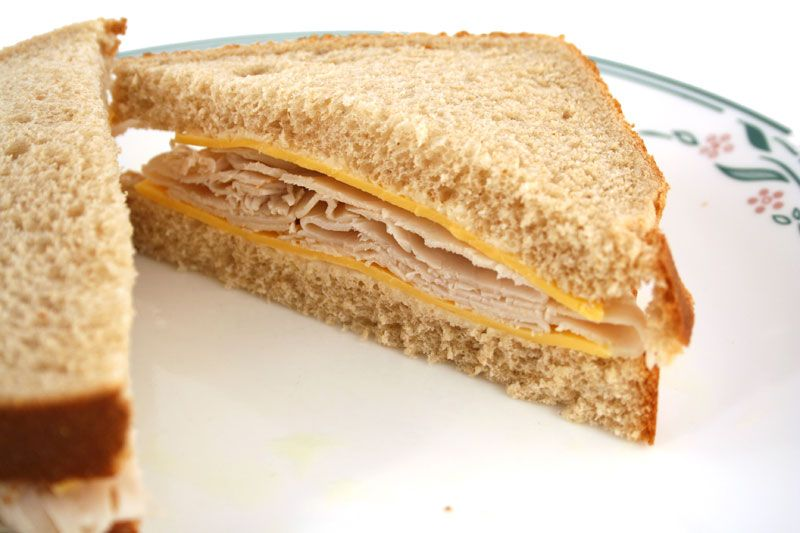 turkey and cheese sandwich | delish | Pinterest