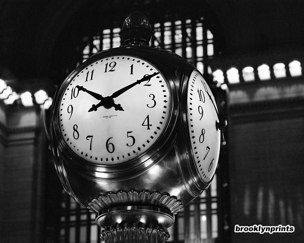 Pin it Like 1 ImageGrand Central Station Clock Black And White