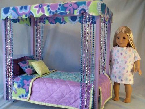 Как сделать кровать для кукольного домика 32