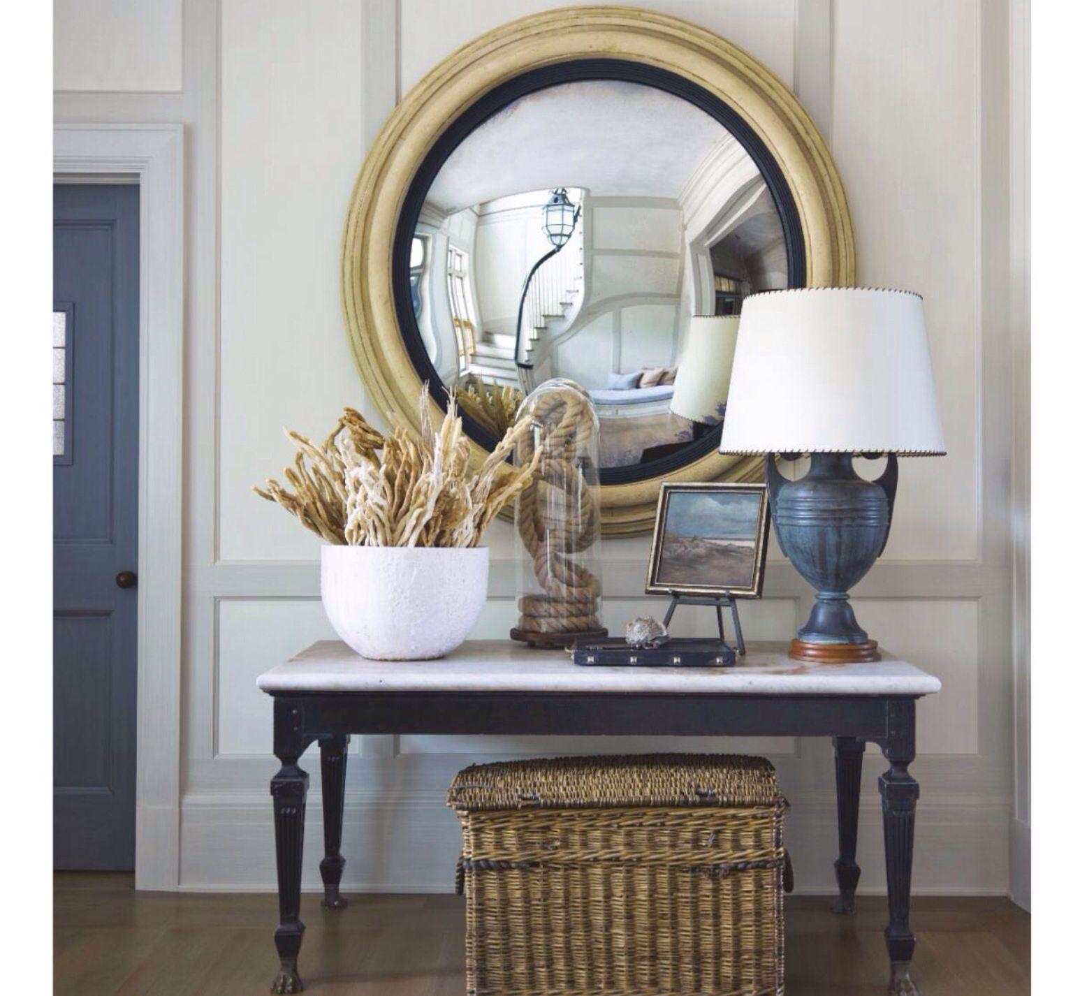 Decorative Foyer Mirror : Decorative mirror for a coastal entryway vignettes
