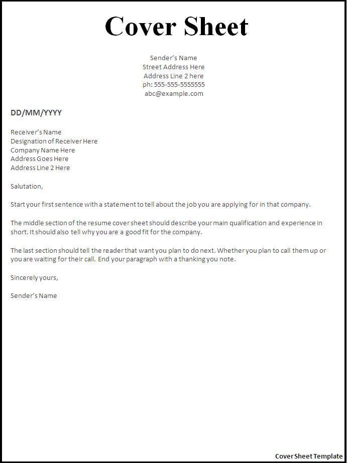 Job Cover Letter Word Document