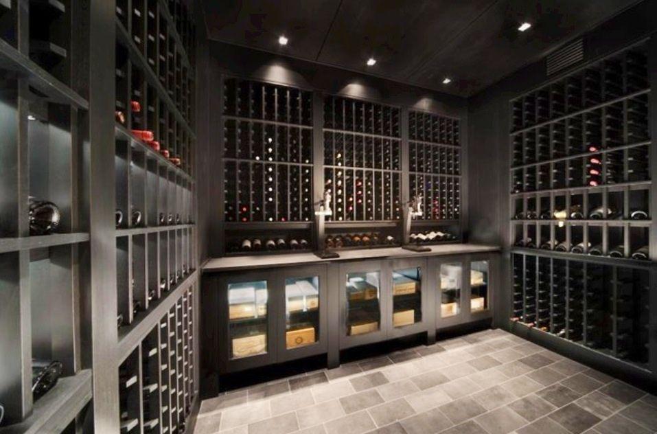 Black Wine Cellar : Wine cellar luxury styles black