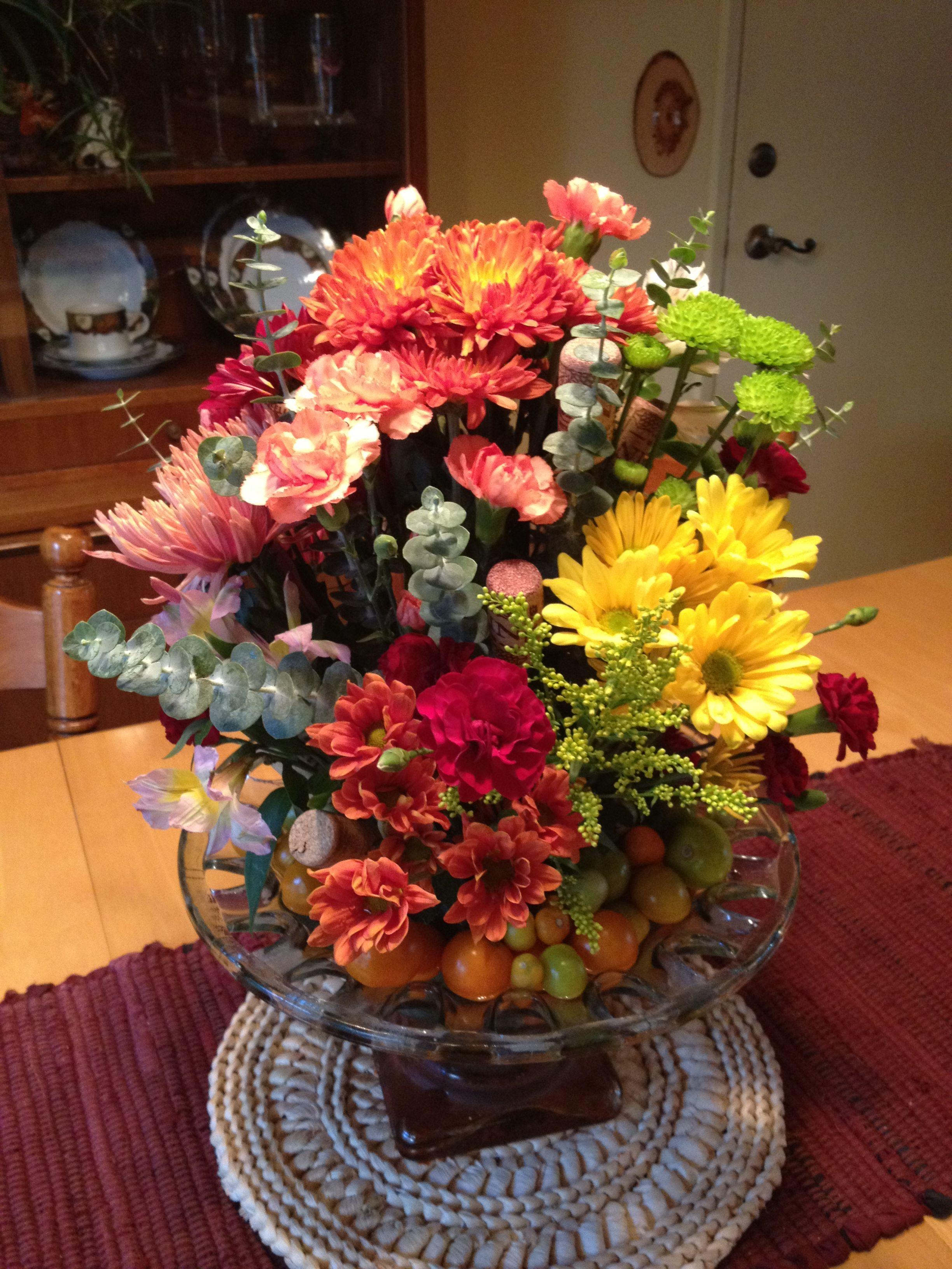 Fall flower arrangement church alter arrangement ideas Fall floral arrangements