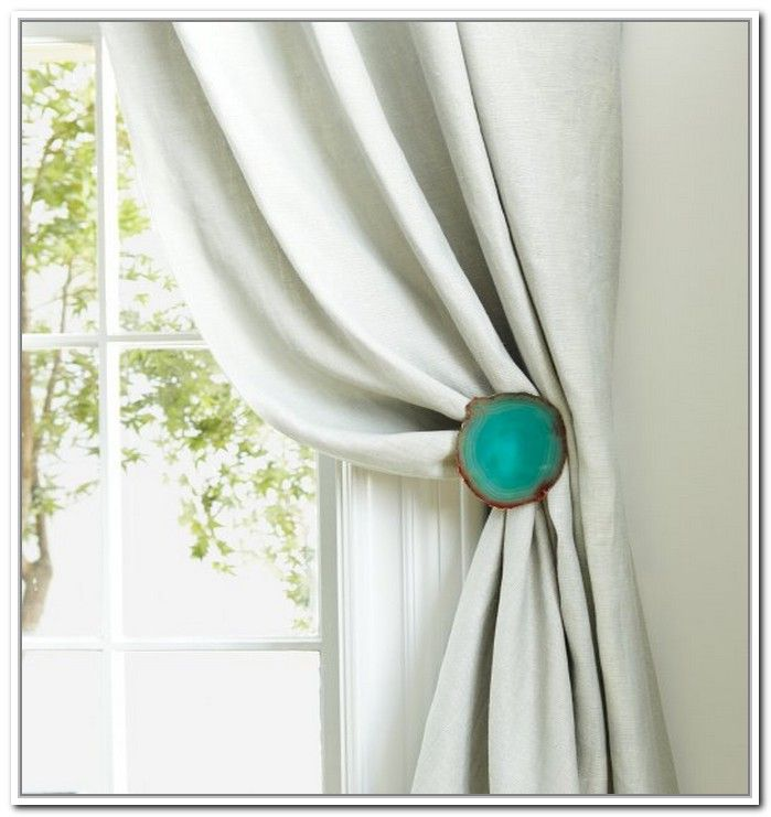 Curtain hooks tie backs