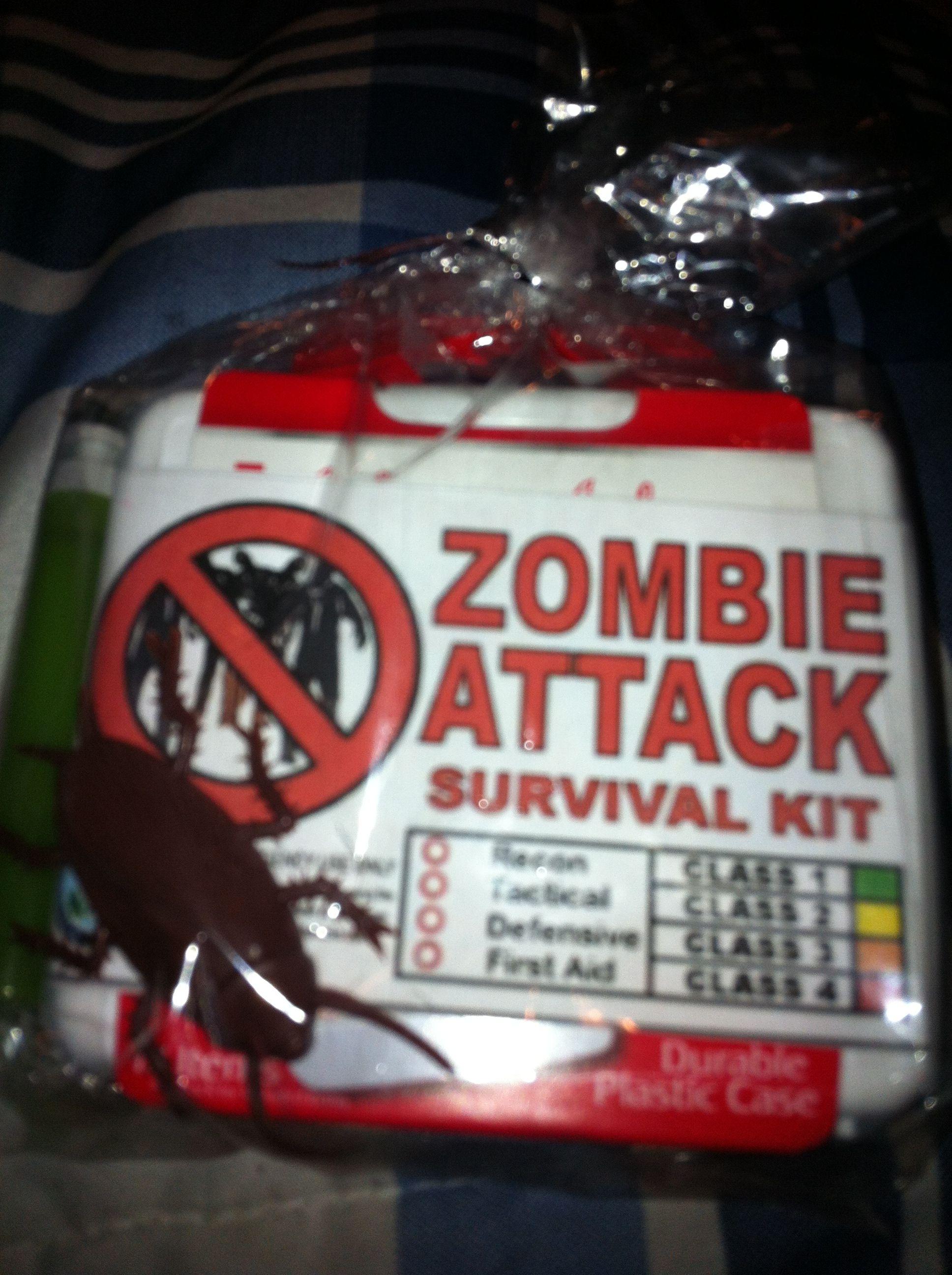 Zombie survival kit goodie bag | Birthday Ideas | Pinterest