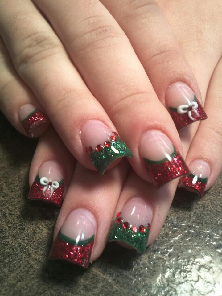 Christmas ... - 30 Festive Christmas Acrylic Nail Designs – Christmas Photos