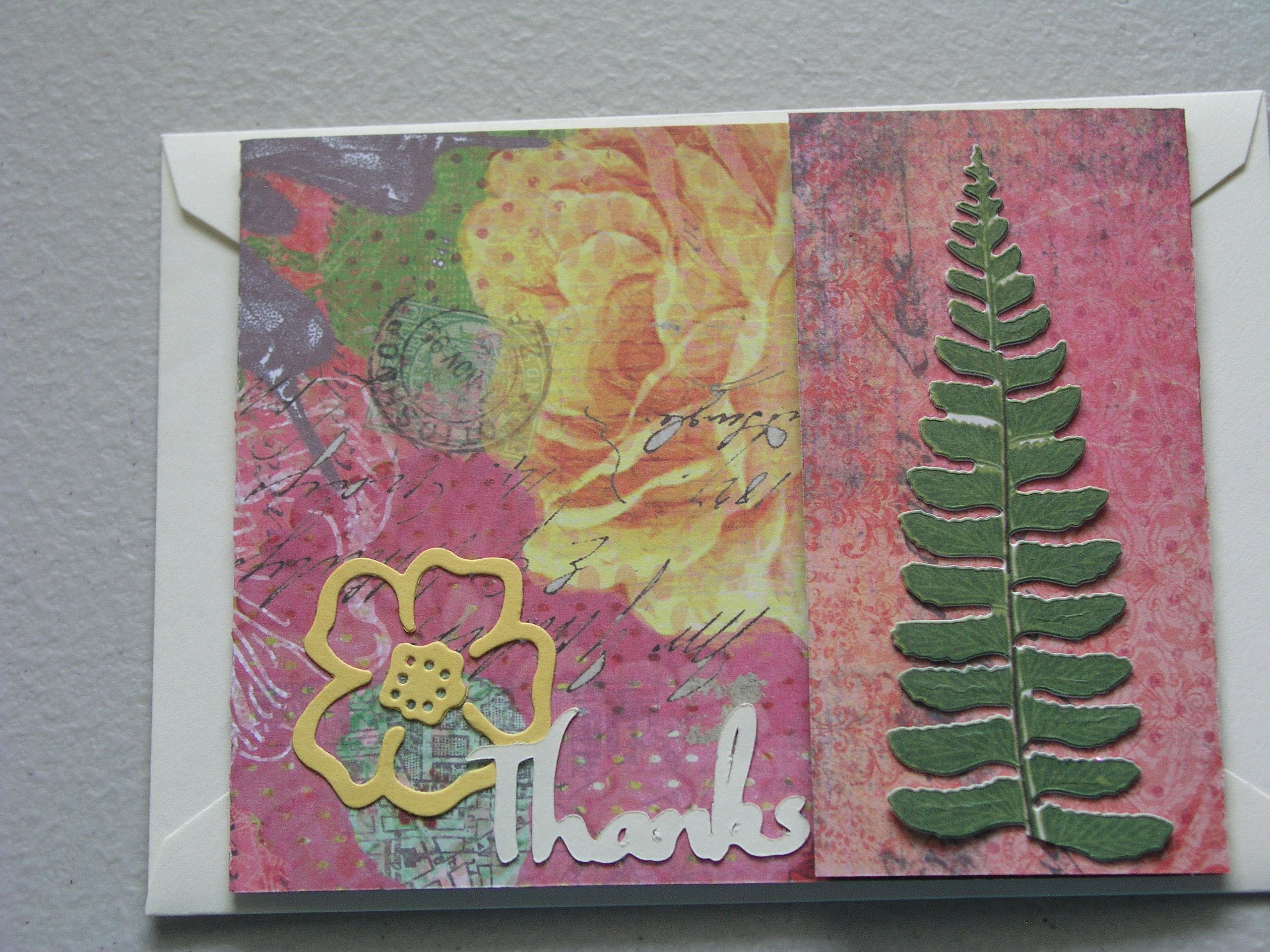 Nature Thank You card.   My Homemade Cards   Pinterest