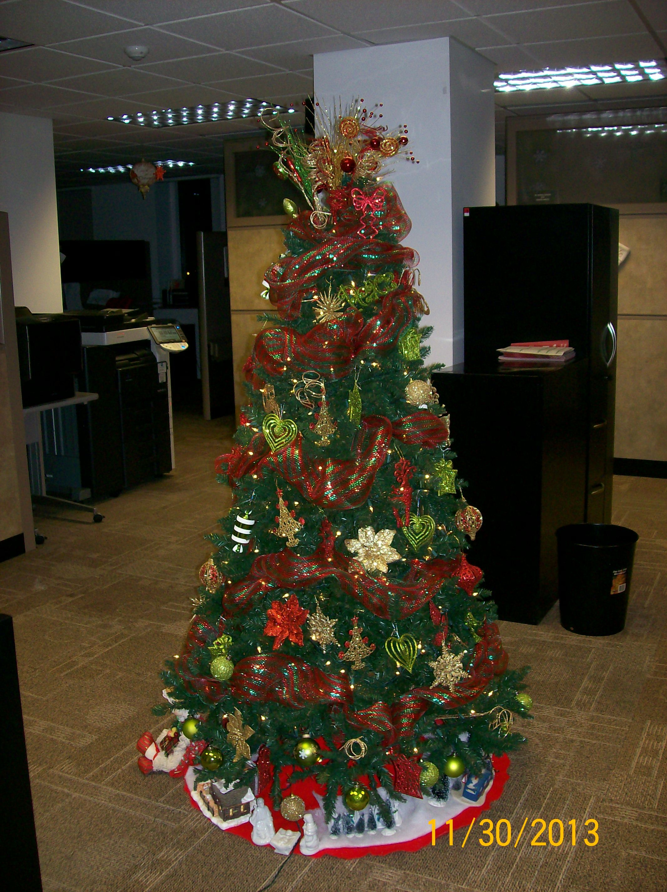 Christmas Tree At The Office Holiday Season Decorating