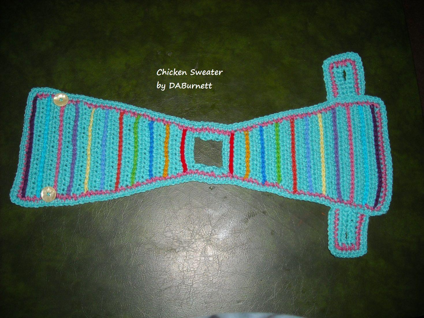 Crocheted Chicken Sweater Crocheting Pinterest