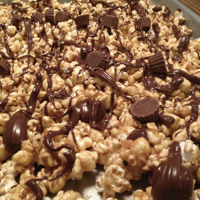 Chocolate Peanut Butter Popcorn | Popcorn | Pinterest