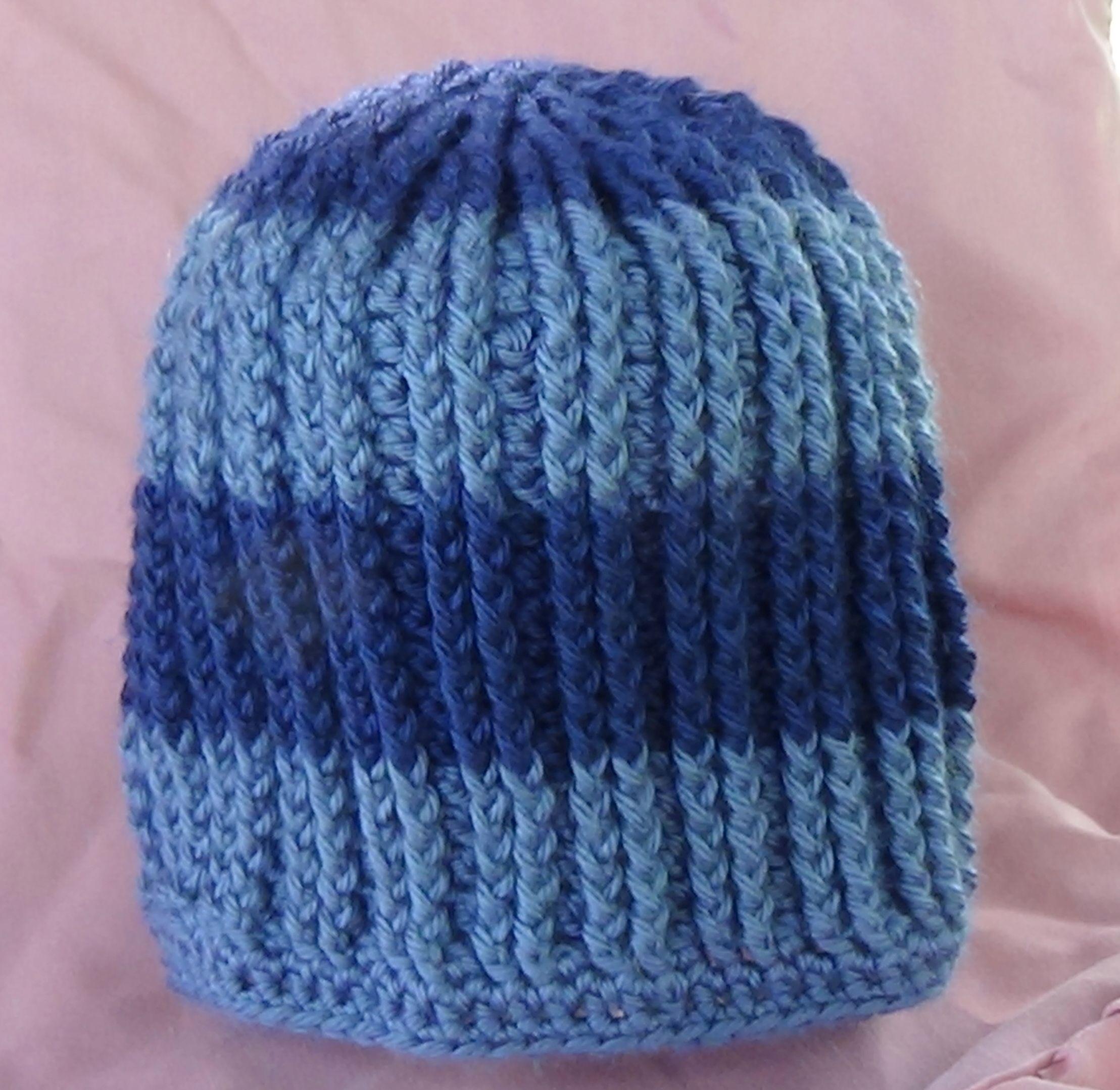 Crochet Beanie Pattern Ribbed : Crochet Ribbed Beanie Crochet awesomeness Pinterest