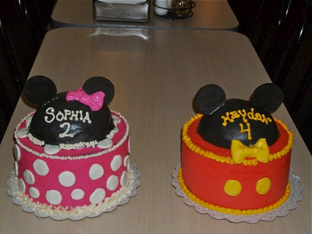 Pin Mickey And Minnie Mouse Birthday Cakes Twins 2nd Cake on Pinterest