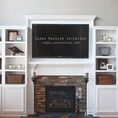 Fireplace With Built Ins DIY Crafts That I Love