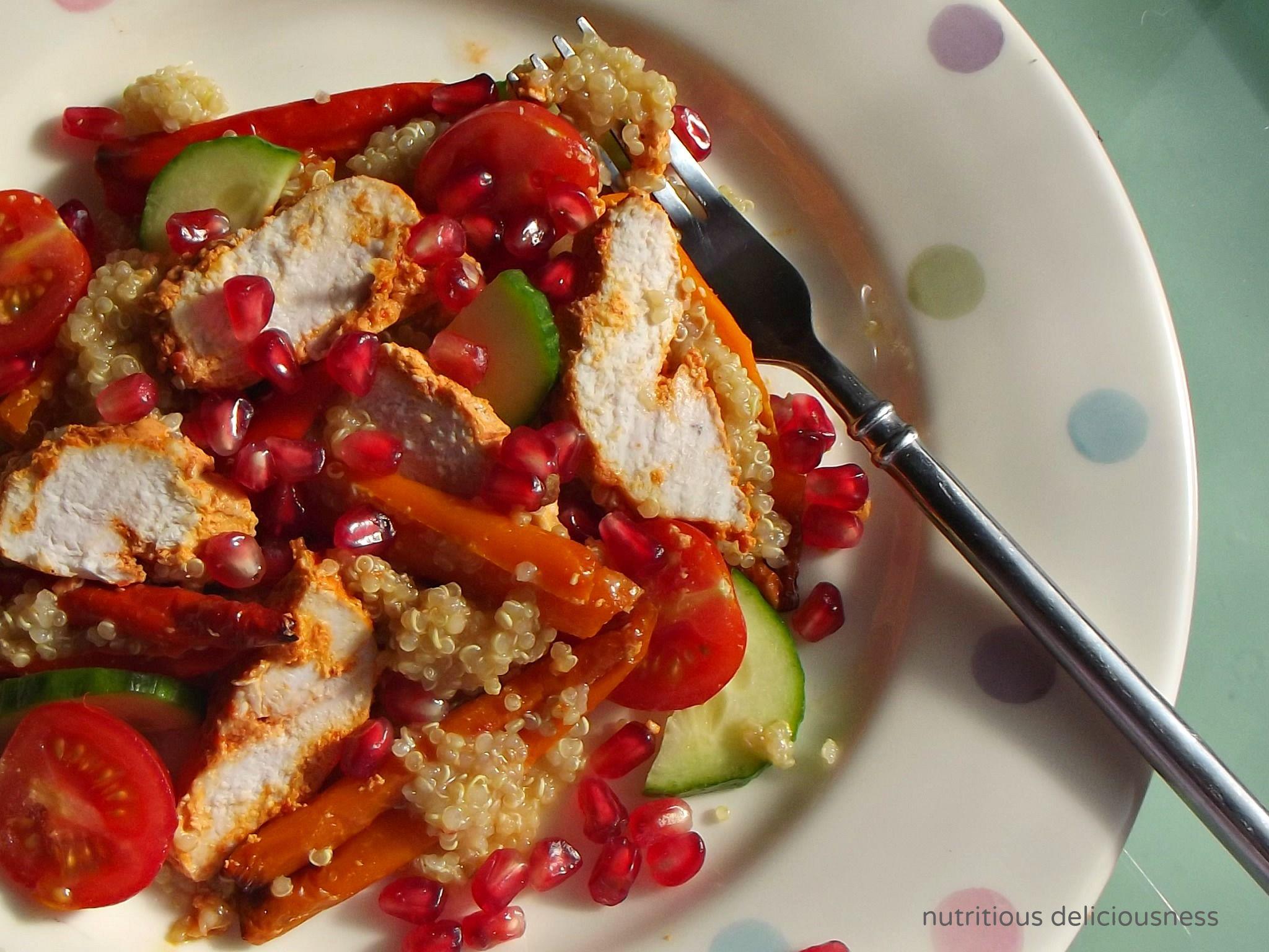 Harissa Roasted Chicken and Quinoa Salad | Good | Pinterest