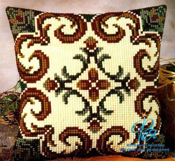 Вышивка крестом наволочки для подушки