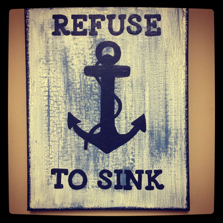 Refuse to sink infinity chevron