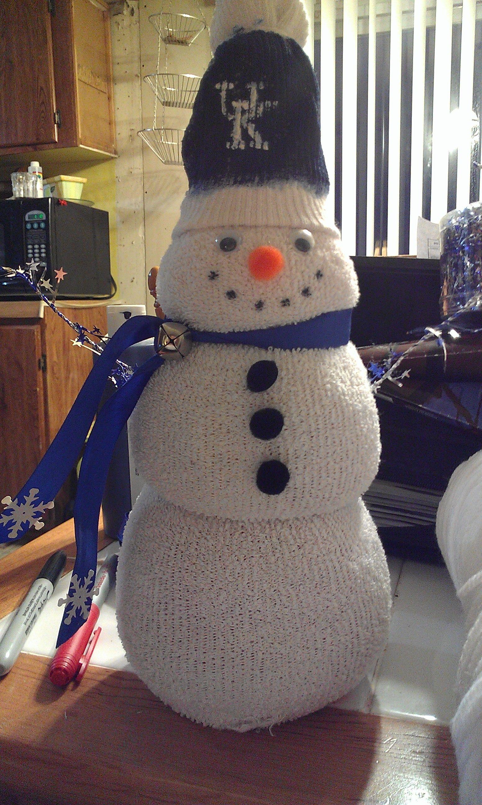 Rice and sock snowman i made christmas pinterest