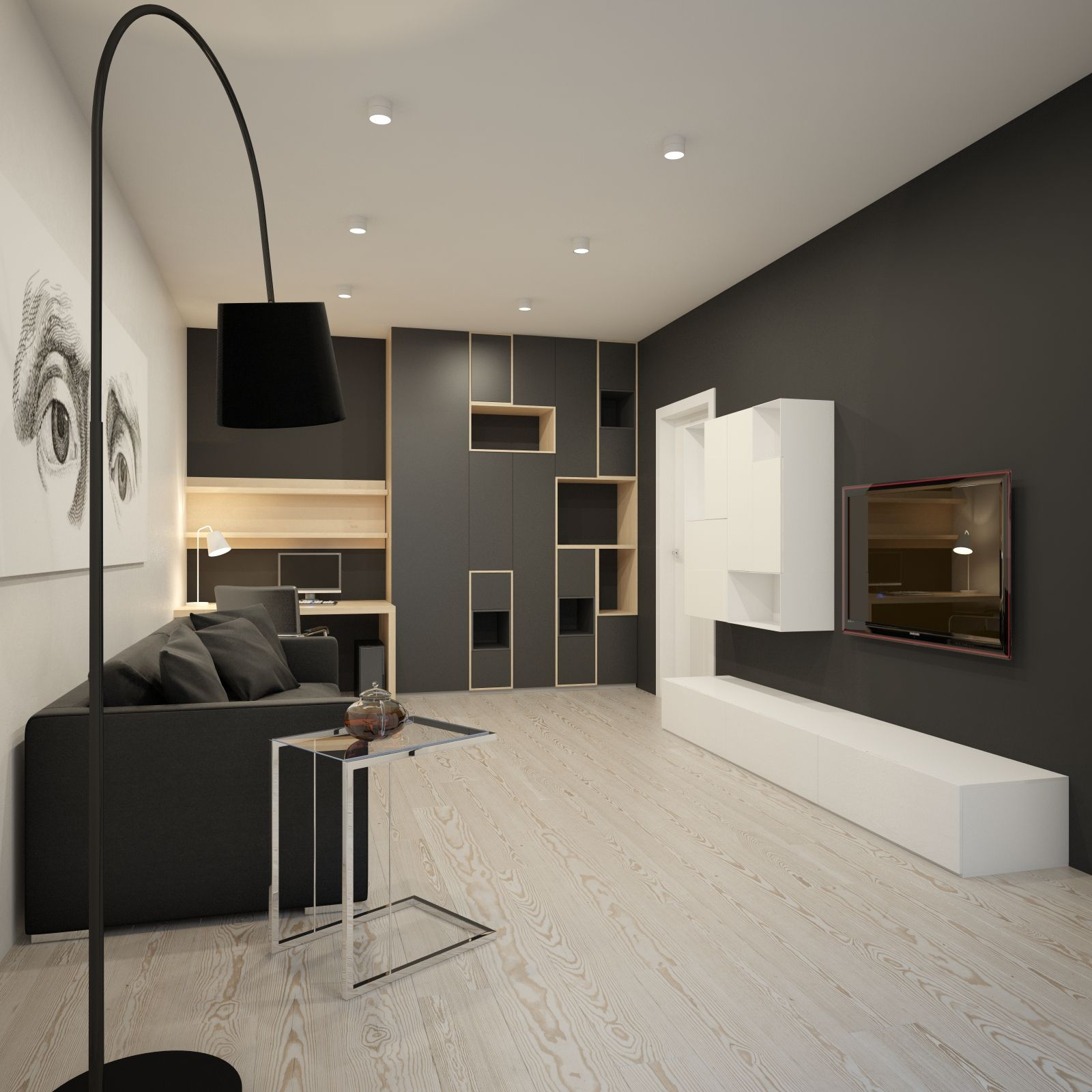 Living room with empty shelves house pinterest - Living rooms ...