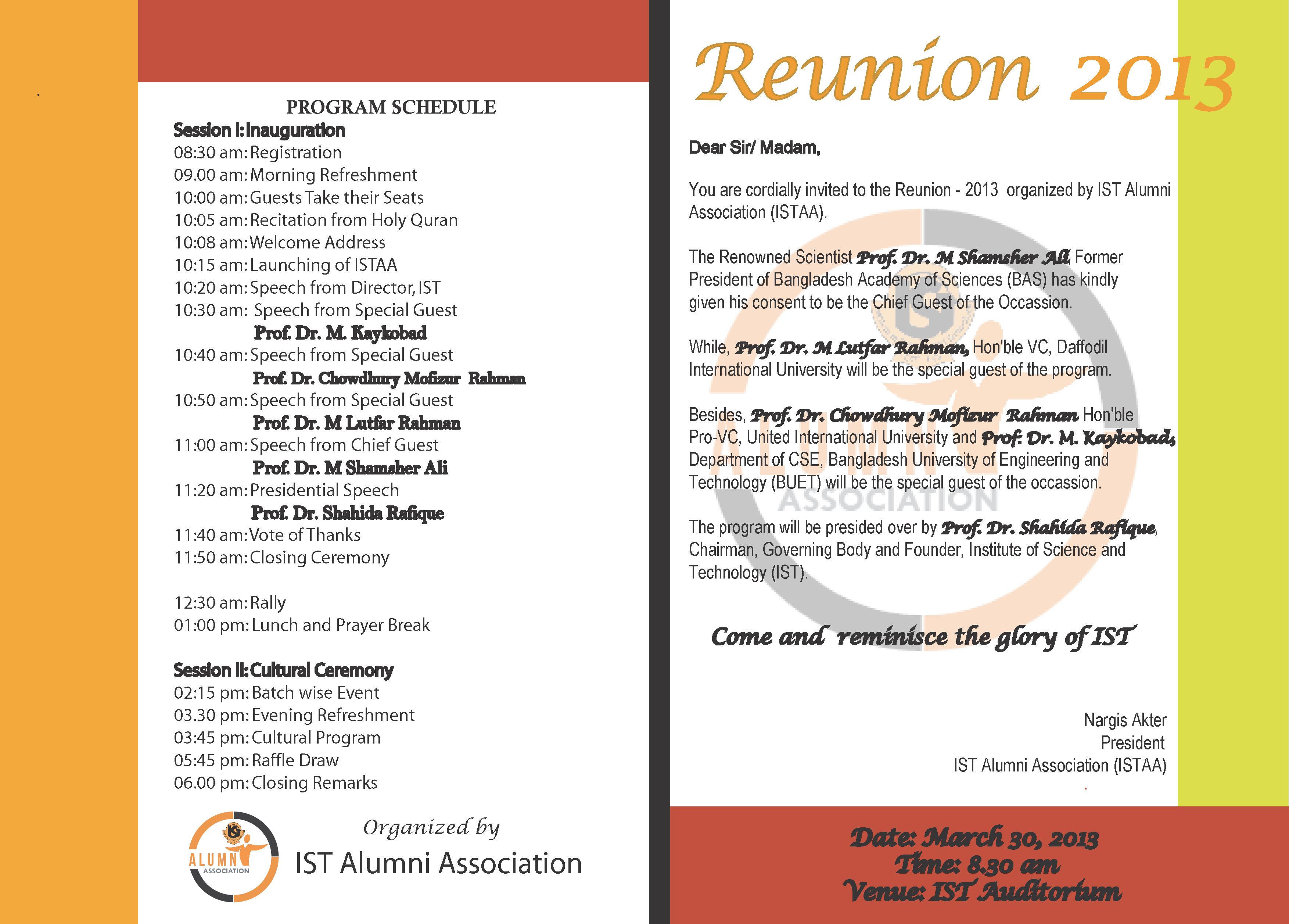 invitation letter for reunion | Invitationswedd.org