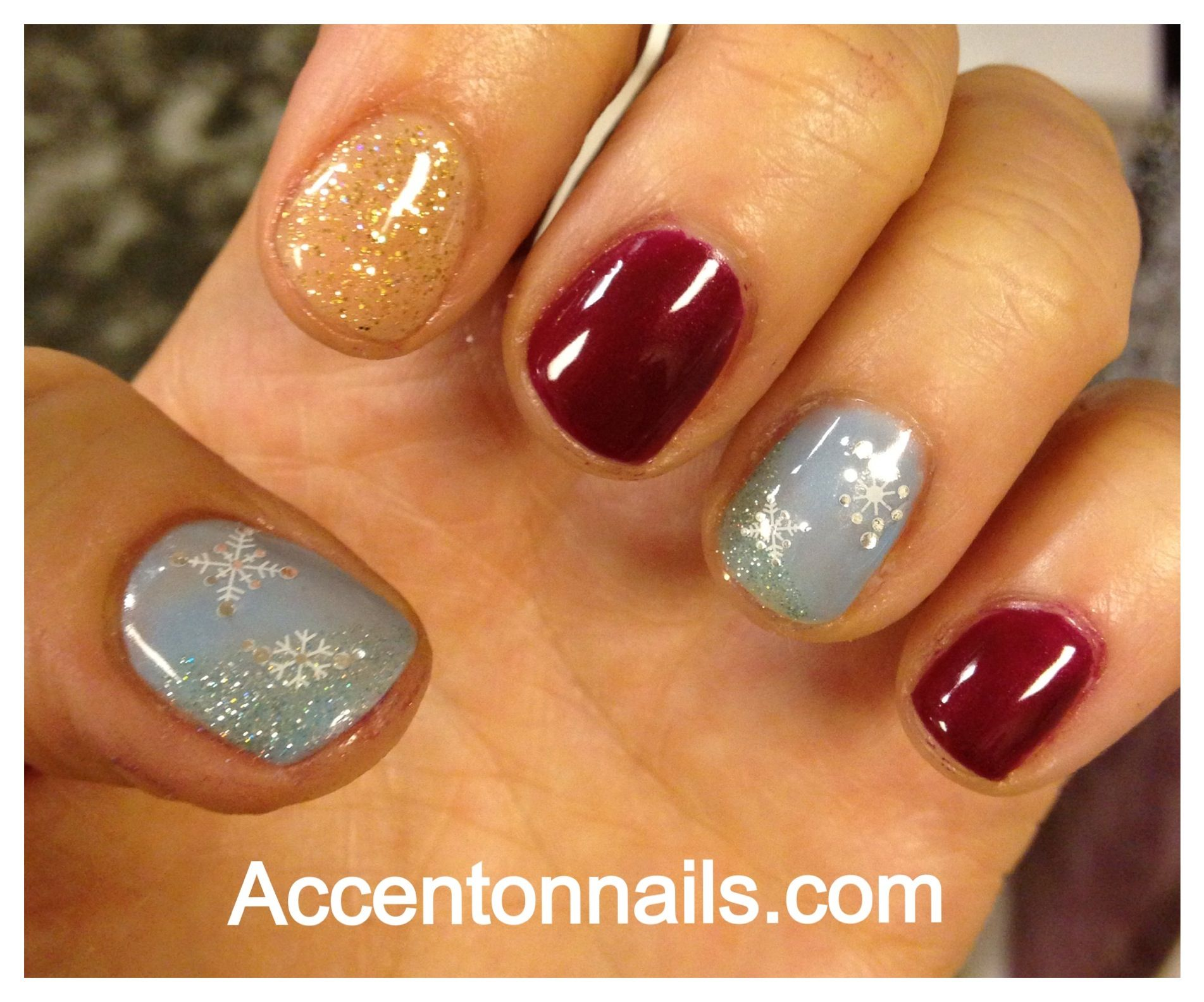 Christmas Shellac nails! | Nails | Pinterest