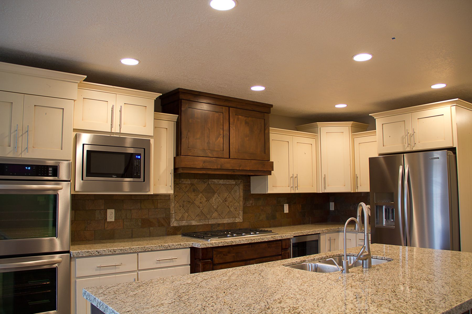 Two different color cabinets kitchen pinterest for Kitchen cabinets 2 colors