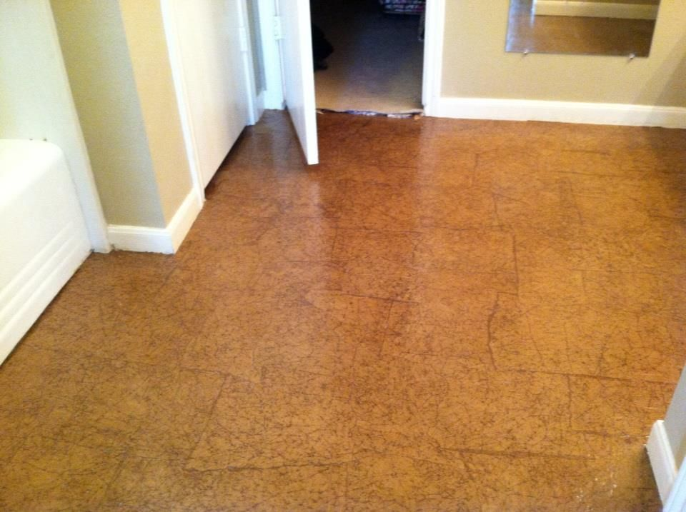 Comconcrete Floor Alternatives : Our paper floor over cement.  Alternative Floor and Wall Coverings ...