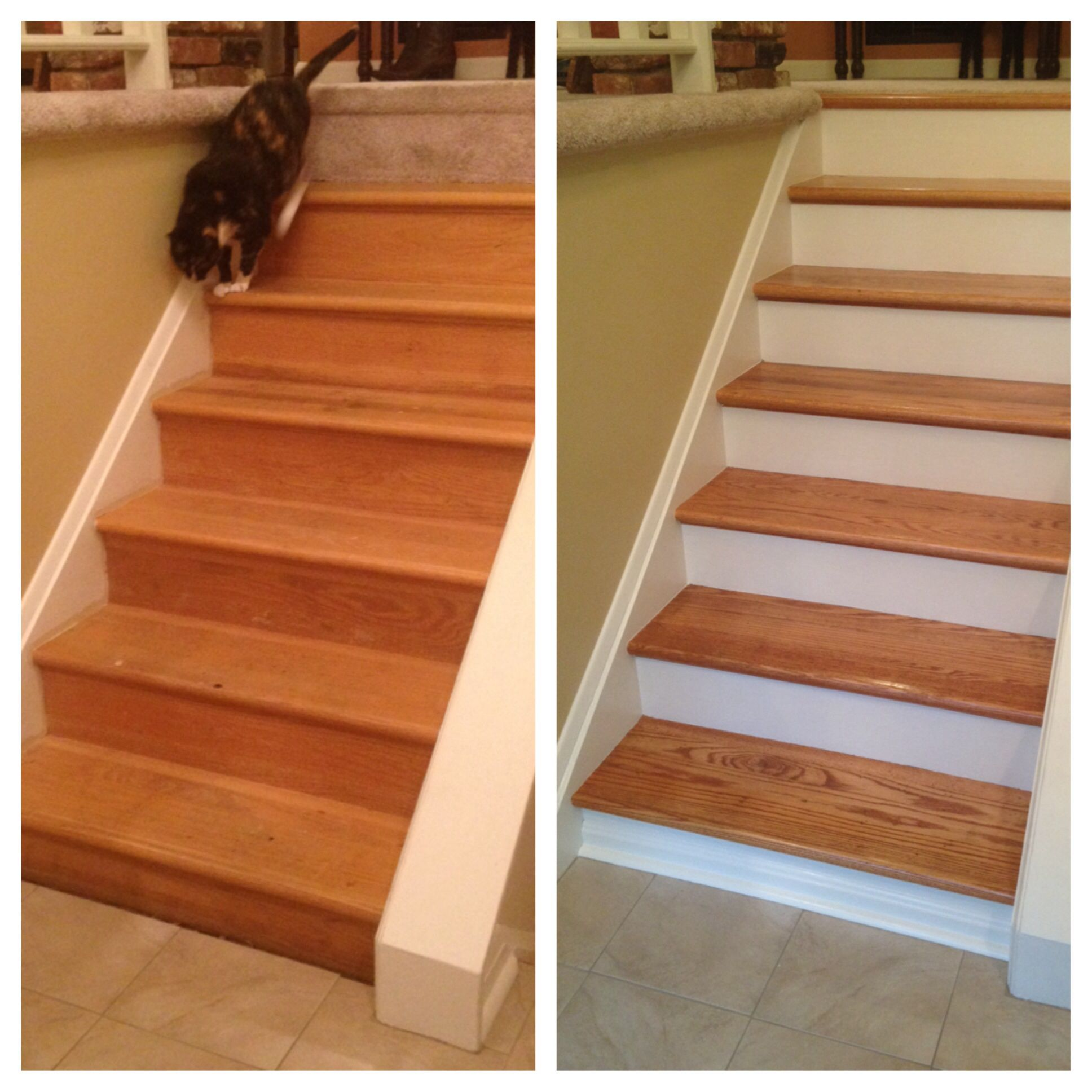 Best Refinishing Stairs Modern Cabin Pinterest 400 x 300