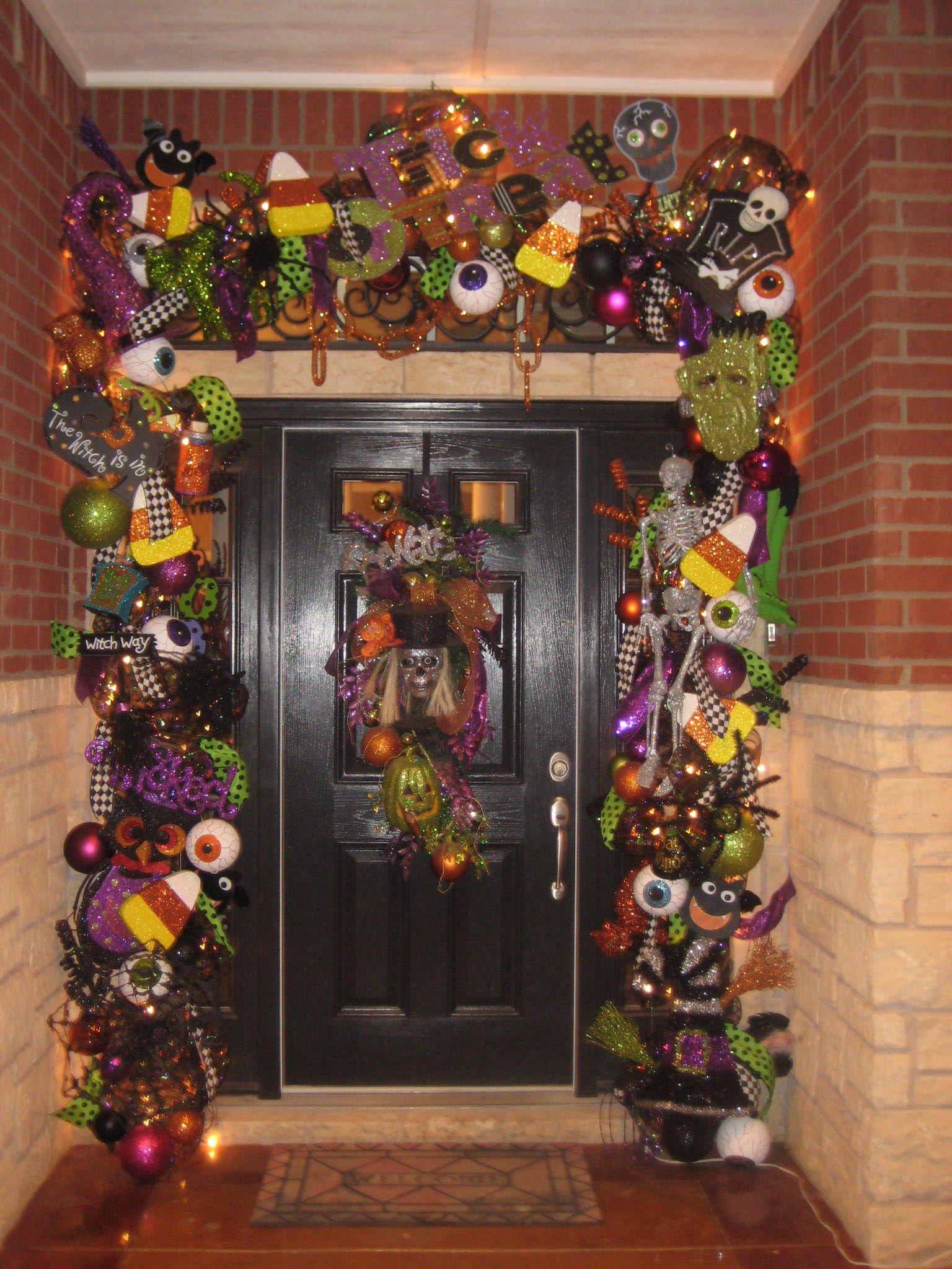 Halloween garland halloween decorations n displays for Halloween girlande