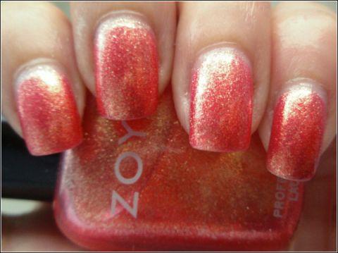 Zoya Coral Zoya Rica Coral Glitte...