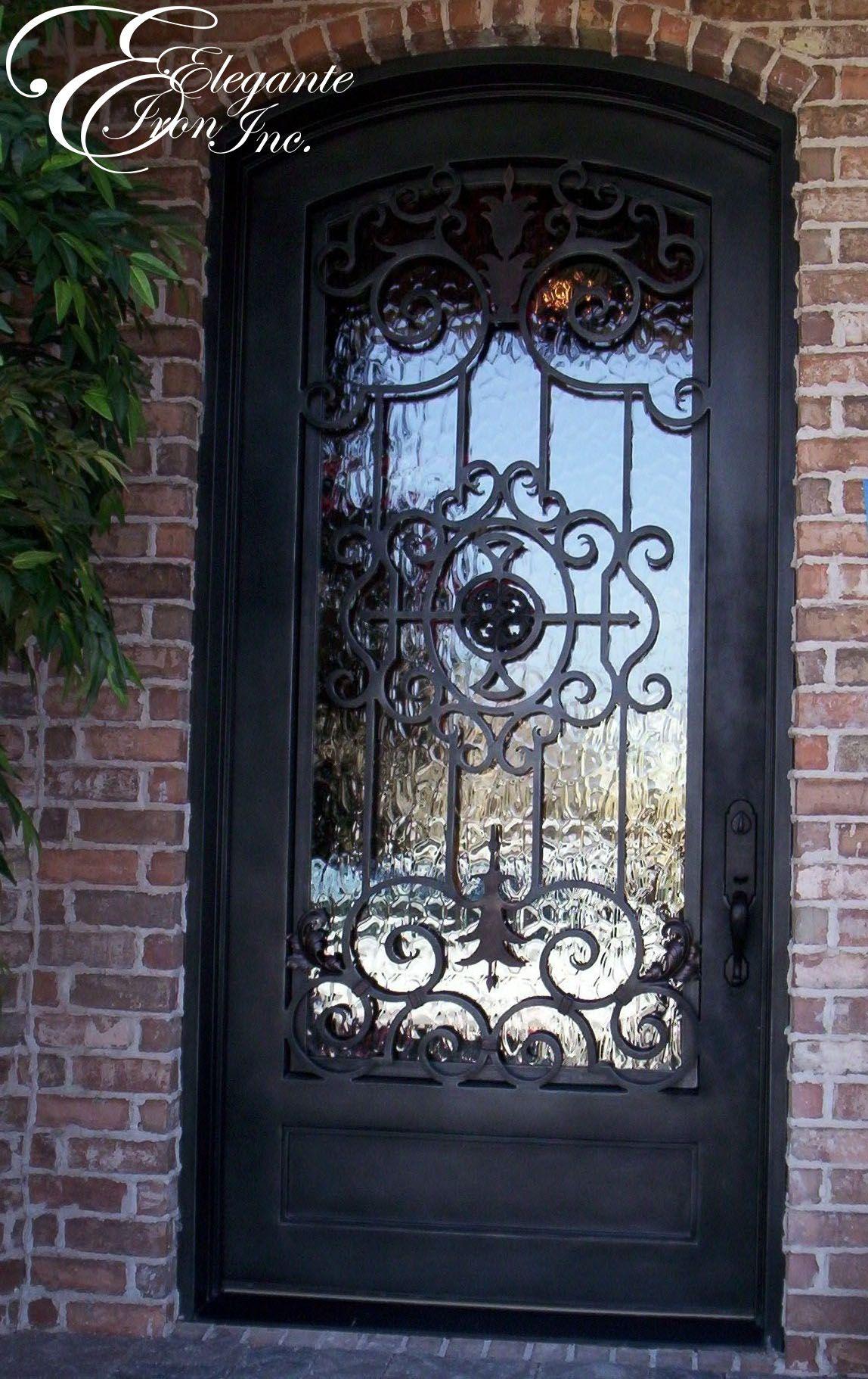 1822 #2D639E Custom Wrought Iron Front Door. Single Doors Pinterest picture/photo Rod Iron Front Doors 43091148