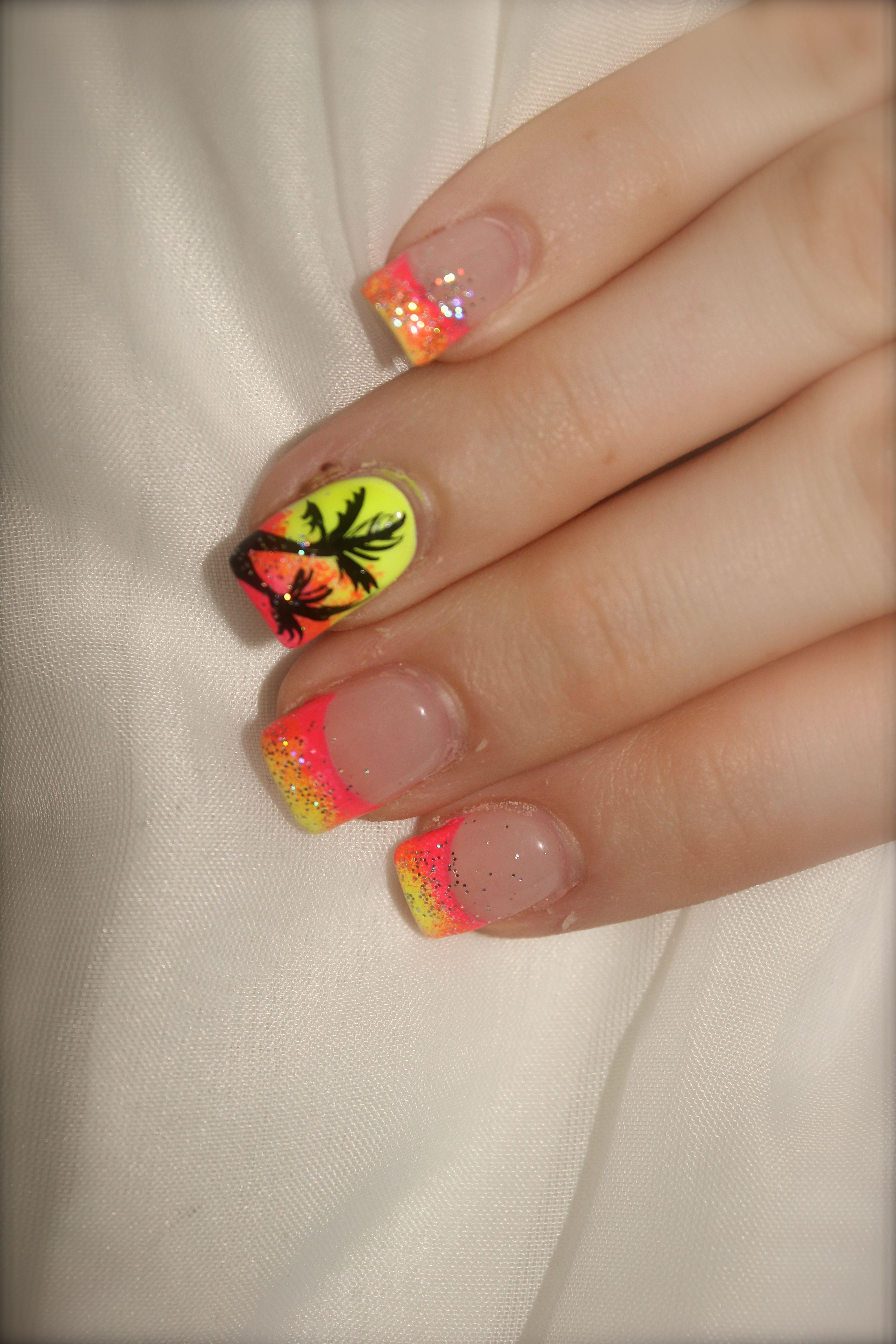 Nail Designs For Caribbean Vacation : Tropical vacation nails nail designs