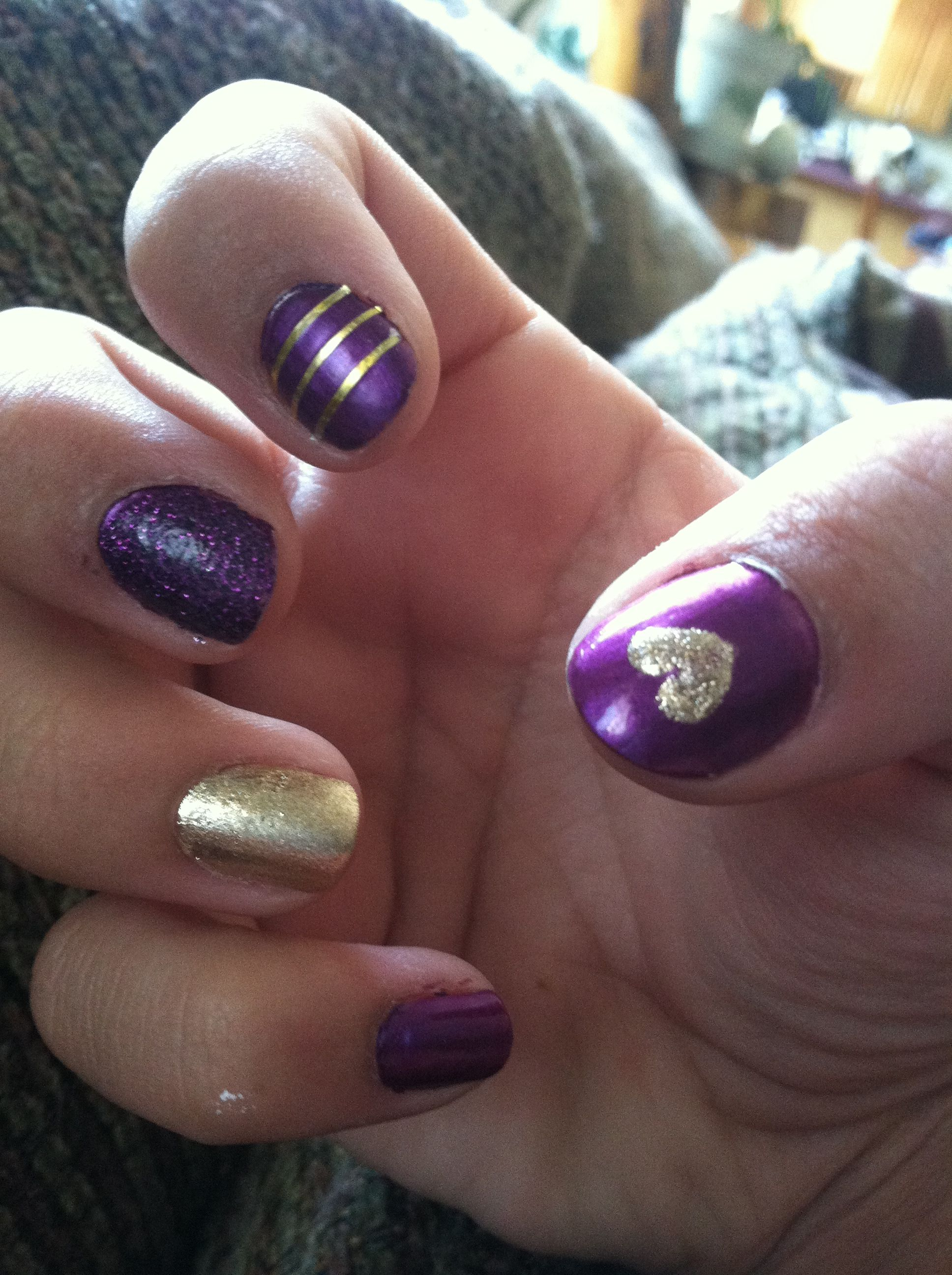 purple and gold nails ohmynails pinterest