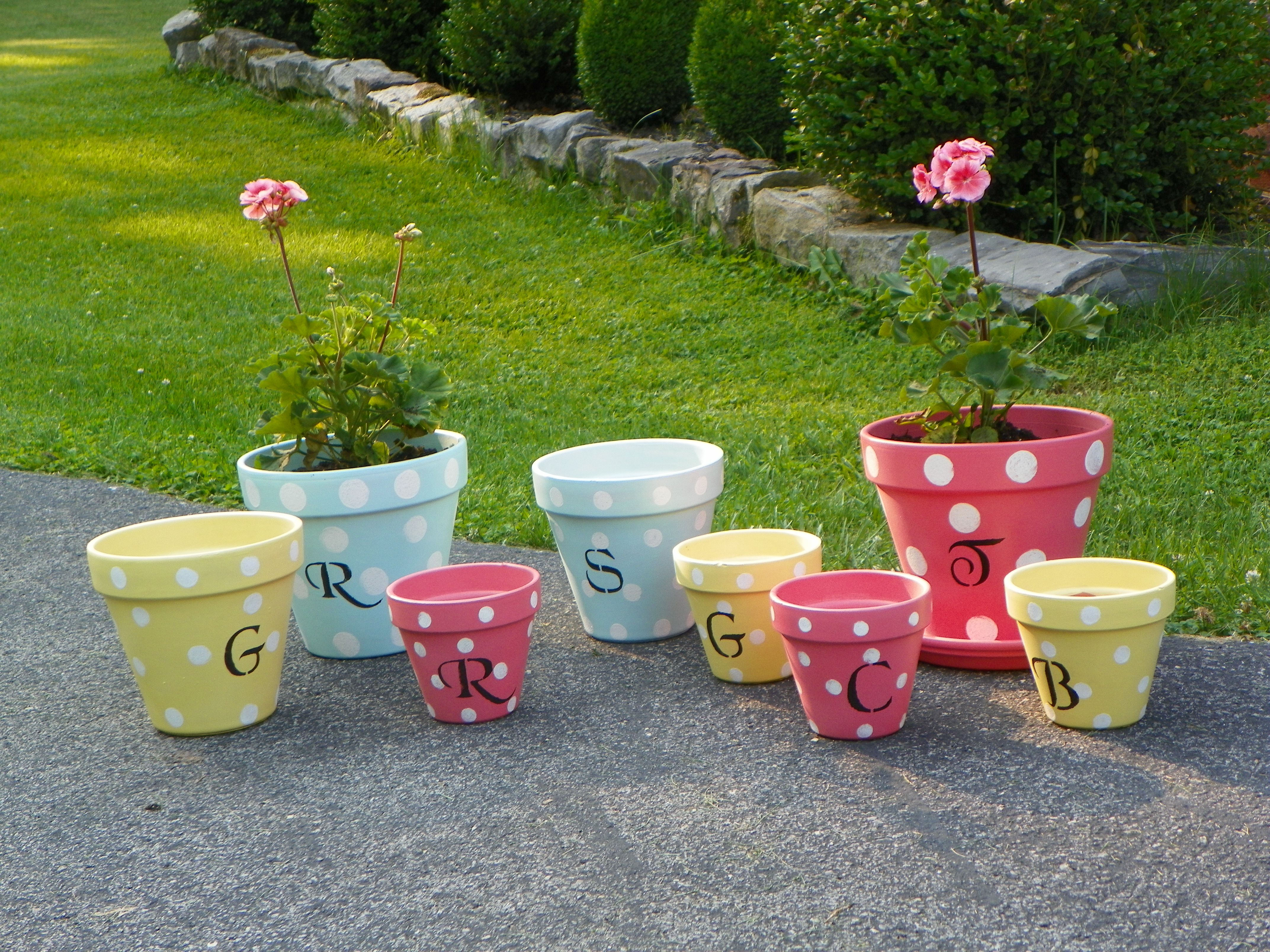 Cute And Colorful Flower Pots Outdoor Ideas Pinterest