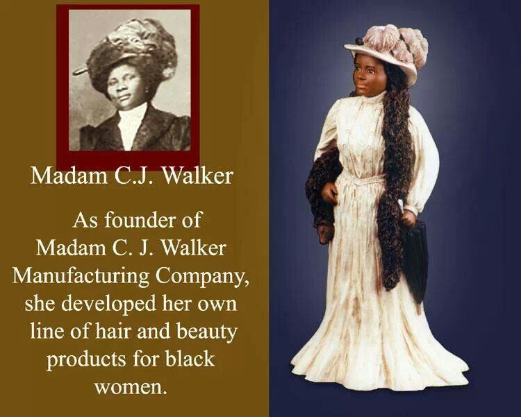 madam cj walker Madam cj walker wasn't the first african american millionaire her success is an inspiration, but we should also honor her predecessors, who are less well-known for a reason.