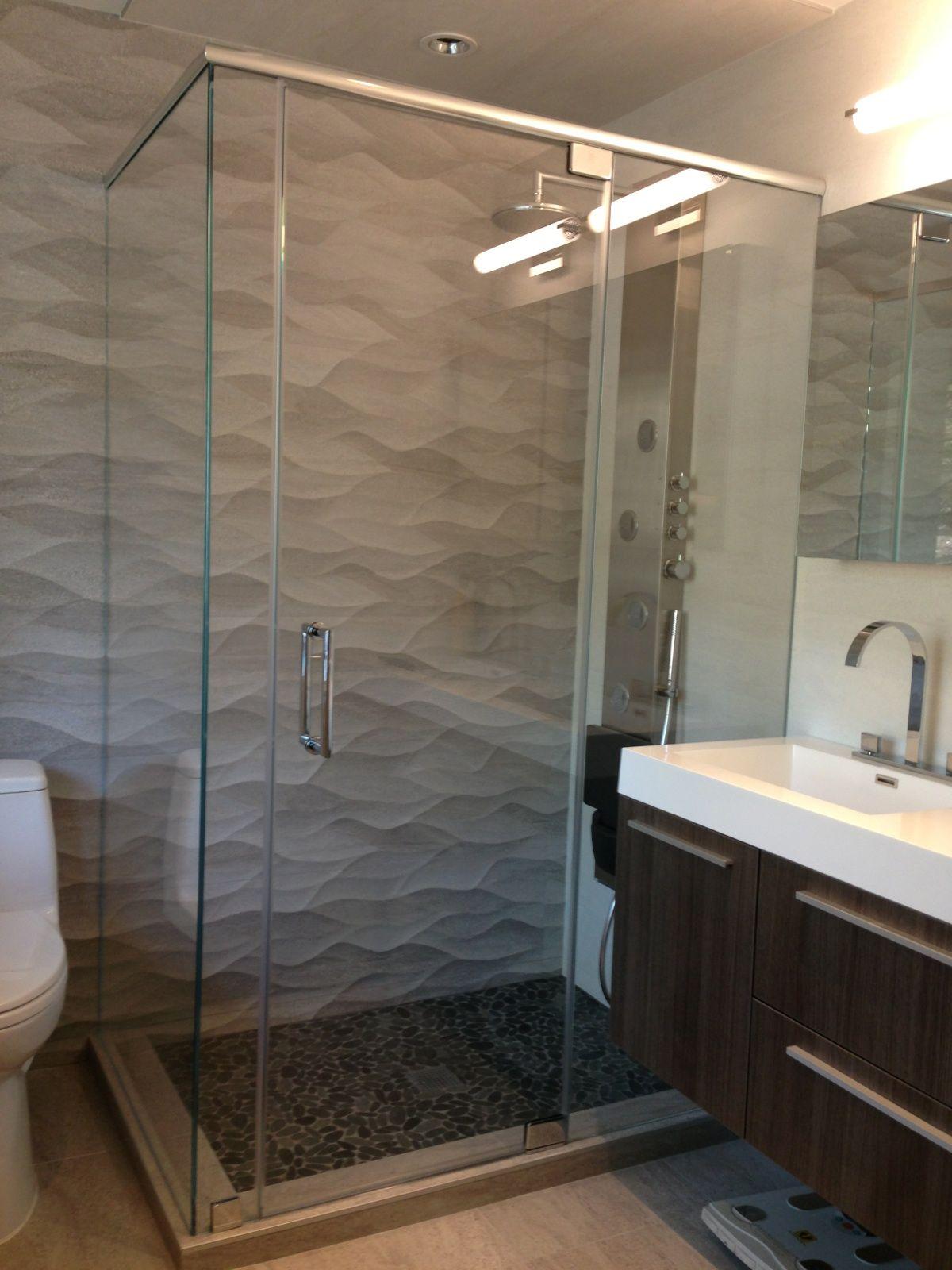 Semi Frameless Shower Door Bathroom Pinterest