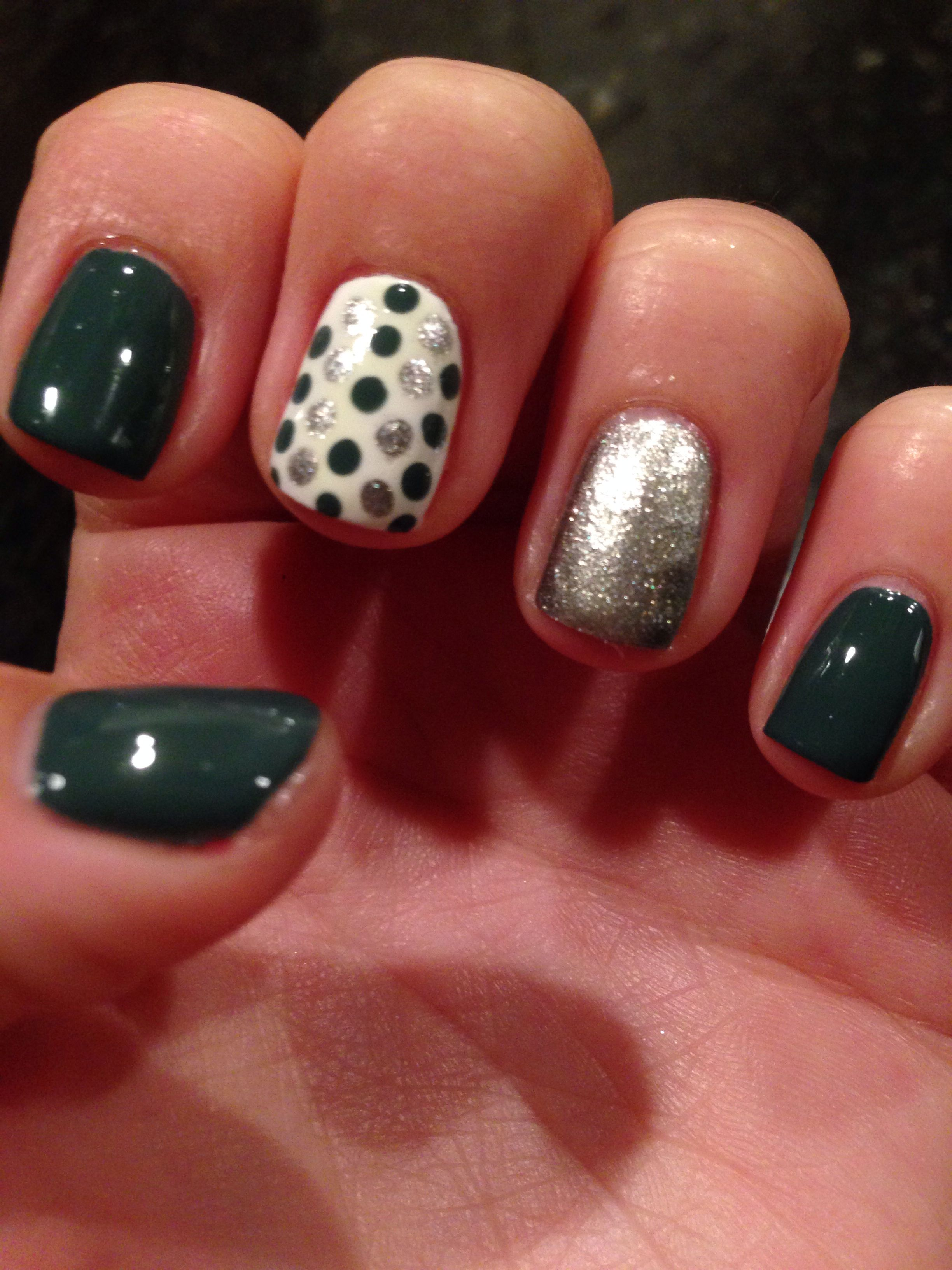 Easy Nail Polish Design Glamour Sparkle Style Pinterest