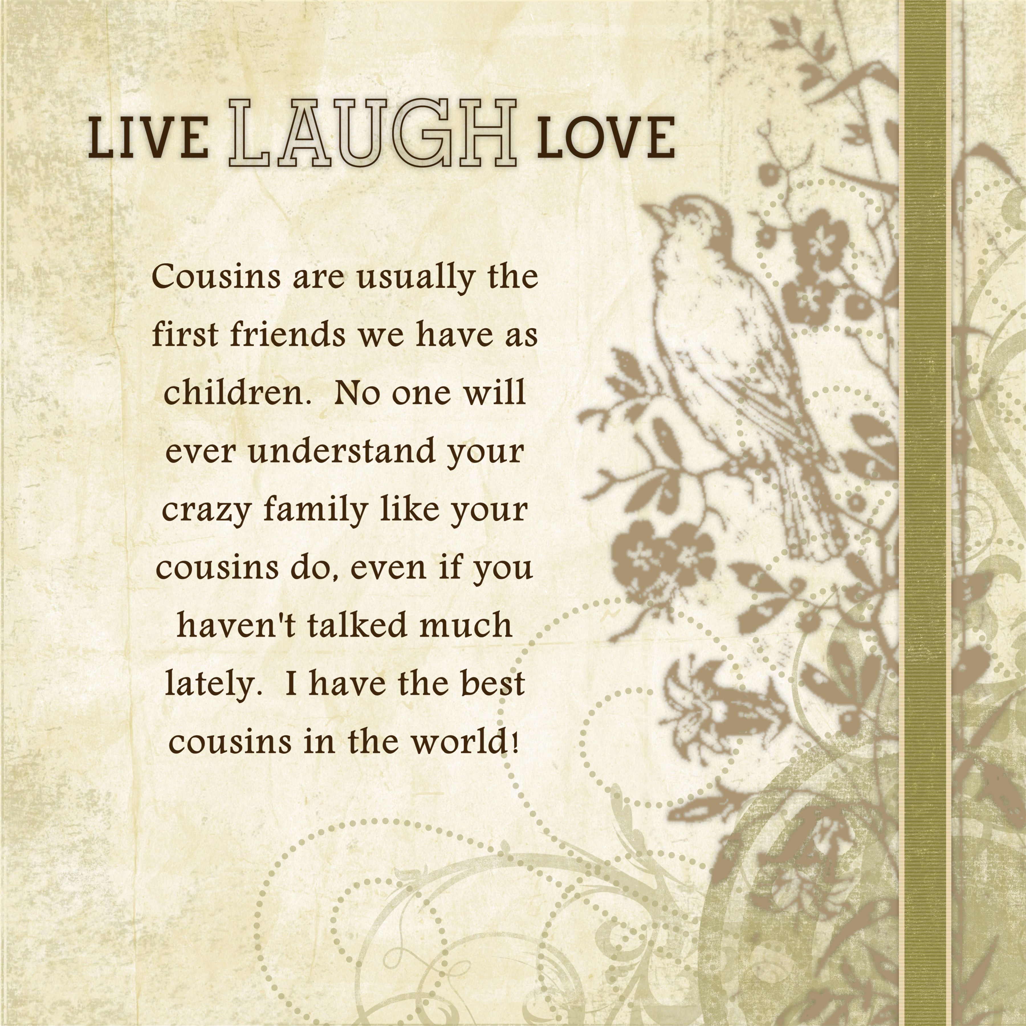 cousin quotes and sayings quotesgram