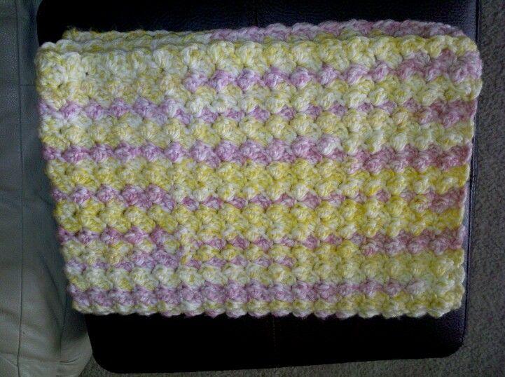Popcorn stitch baby blanket AsJah Crochet Pinterest