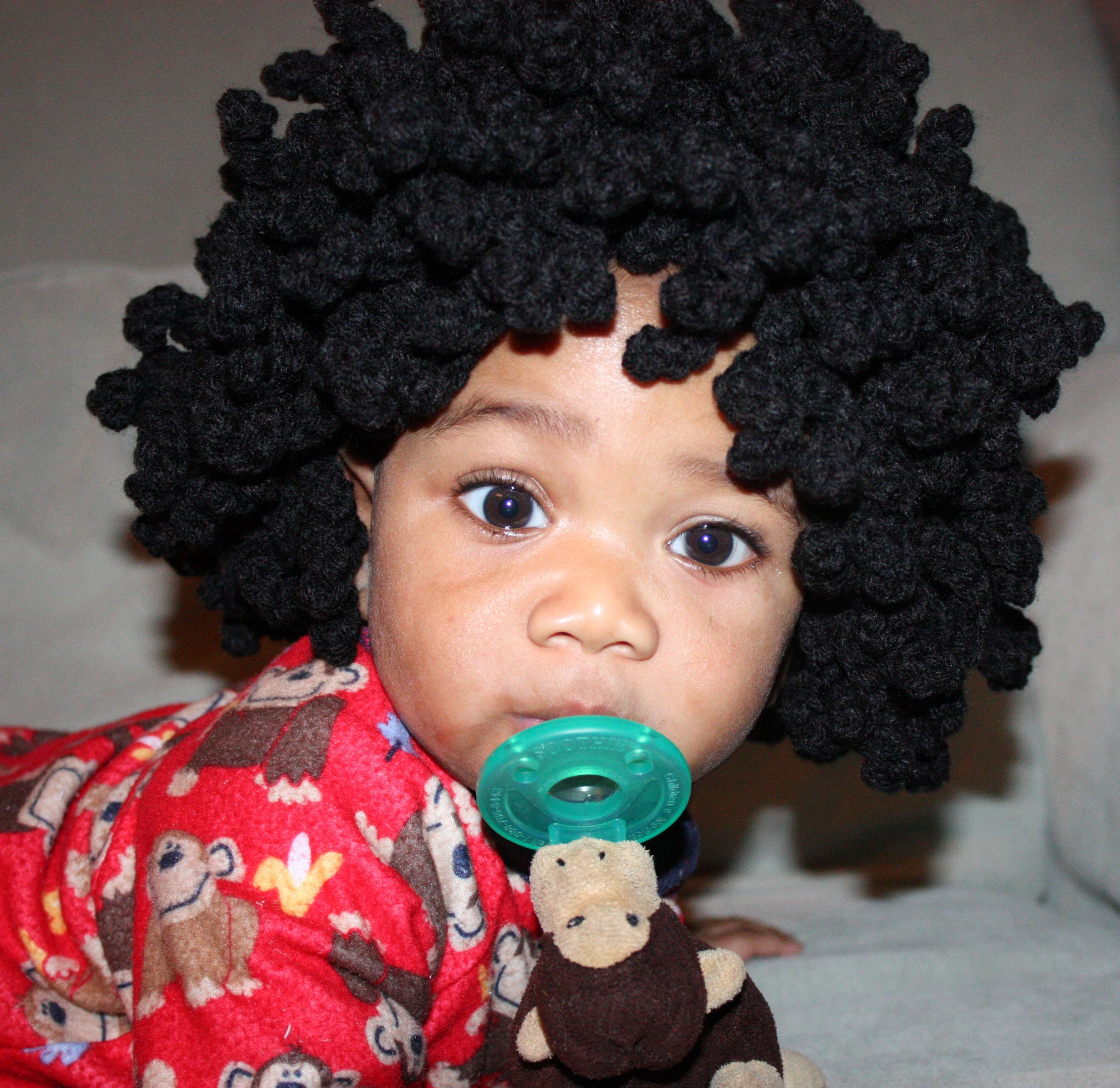 Cute Crochet Hairstyles : Afro, Afro, Afro Crochet Baby Afro Hat Too Cute...Little Cuties ...