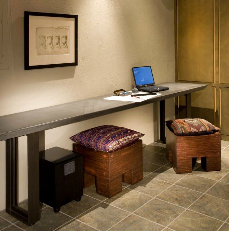 The long narrow desk of my dreams spaces pinterest for Long office desk