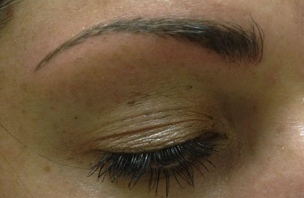 After permanent eyebrow procedure permanente make up pinterest