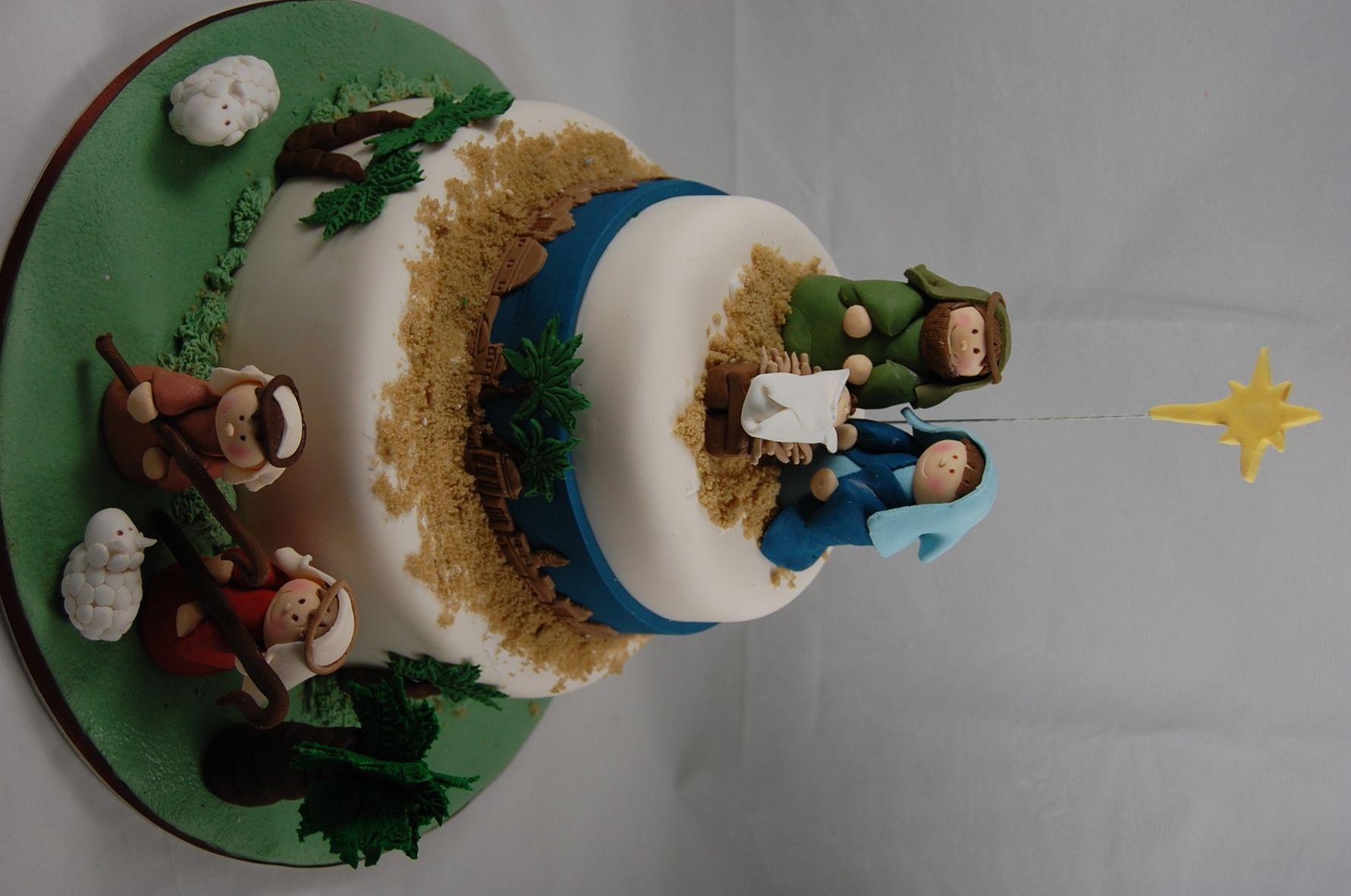 Nativity Christmas Cake Design : nativity cake Cake ideas Pinterest