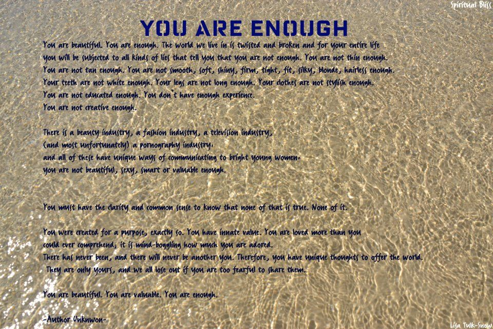 You are enough  Quotes  Pinterest
